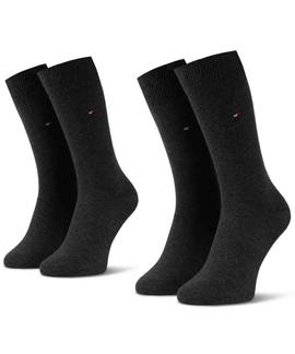 TH MEN SOCK CLASSIC 2 PACK ANTHRACITE MELANGE