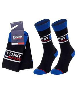 TH UNISEX SOCK 2 PACK TOMMY JEANS BLACK