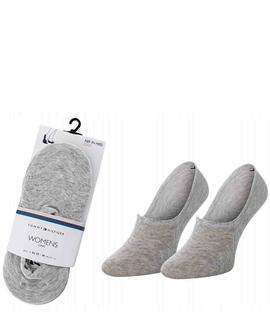 TH WOMEN FOOTIE 2 PACK MIDDLE GREY MELANGE