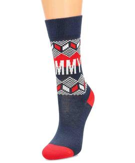 TH KIDS SOCK 2 PACK FAIRISLE TOMMY ORIGINAL