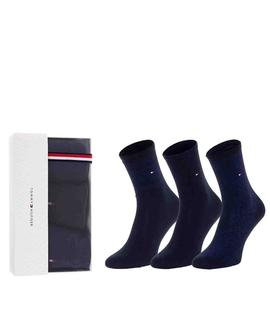 TH WOMEN SOCK 3 PACK GIFTBOX NAVY - BLUE