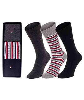 TH MEN SOCK 3 PACK LOGO GIFT BOX BLACK