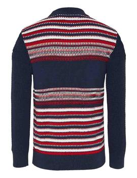 TJM STRUCTURE MIX SWEATER TWILIGHT NAVY / MULTI
