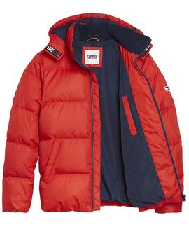 TJM ESSENTIAL DOWN JACKET DEEP CRIMSON