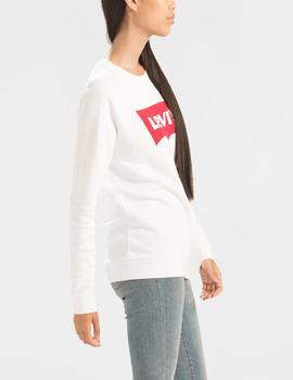 RELAXED GRAPHIC CREW BETTER BATWING WHITE