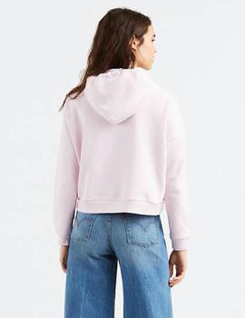 CROPPED GRAPHIC HOODIE LIGHT LILAC
