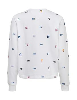 TJW ALLOVER EMBROIDERED CREW CLASSIC WHITE