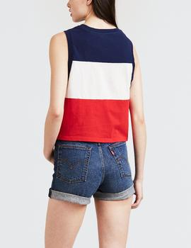COLORBLOCK CROP TANK GRAPHIC COLORBLOCK