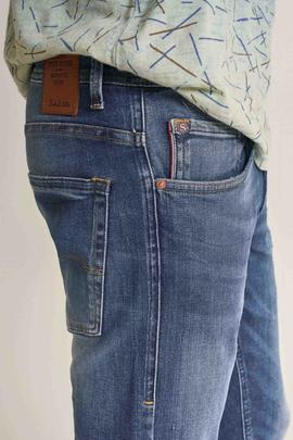 CLASH SKINNY FIT EN DENIM AZUL CON ROTOS