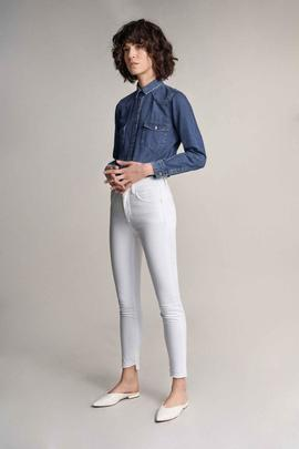 SECRET GLAMOUR CAPRI SKINNY FIT EN DENIM BLANCO