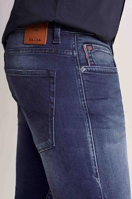 CLASH SKINNY FIT EN DENIM AZUL OSCURO