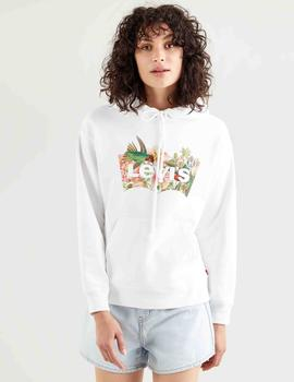 GRAPHIC STANDARD HOODIE BATWING FILL HUMMINGBIRD WHITE