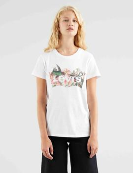 THE PERFECT TEE BATWING FILL HUMMINGBIRD TEE WHITE