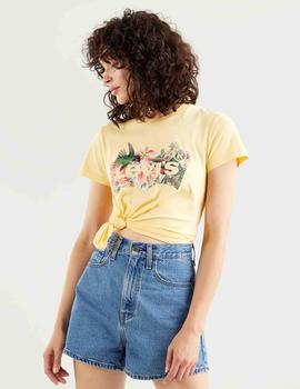 THE PERFECT TEE BATWING FILL HUMMINGBIRD TEE GOLDEN HAZE