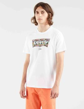 HOUSEMARK GRAPHIC TEE SSNL HM FISH FILL WHITE
