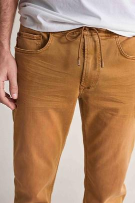LIMA JOGGER DENIM TAPERED FIT OCRE