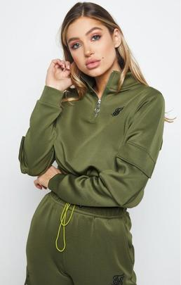 CARGO POCKET TRACK TOP KHAKI