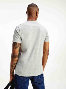 GLOBAL STRIPE CHEST TEE MEDIUM GREY HEATHER