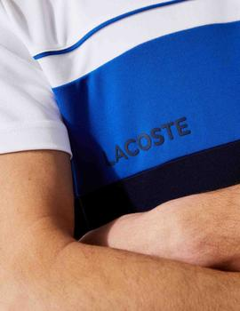 CAMISETA LACOSTE SPORT COLOR BLOCK TRANSPIRABLE