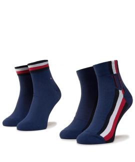 TH MEN QUARTER 2 PACK ICONIC SOCK BRIGHT BLUE