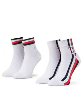 TH MEN QUARTER 2 PACK ICONIC SOCK WHITE