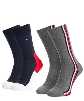 TH MEN ICONIC HIDDEN SOCK 2 PACK TOMMY ORIGINAL