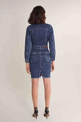 VESTIDO WONDER PUSH UP EN DENIM AZUL
