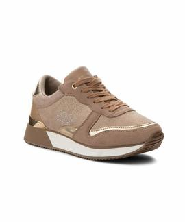 TOMMY STUD CITY SNEAKER DARK TAUPE
