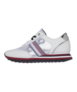 TOMMY CORPORATE FLAG SNEAKER WHITE