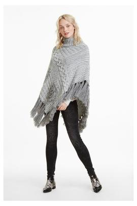 KNITTED PONCHO_SOFT