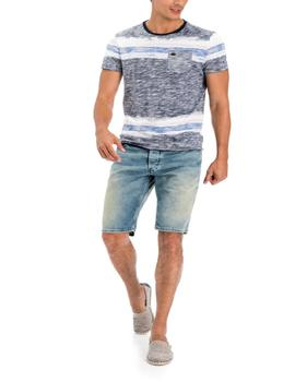 BERMUDA VAQUERA LOOSE FIT DIRTY WASH EN DENIM AZUL