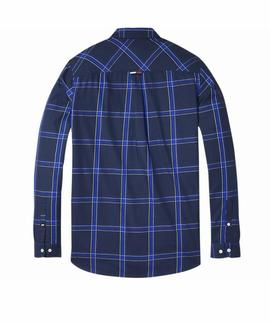 TJM ESSENTIAL BIG CHECK SHIRT BLACK IRIS / MULTI