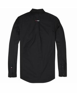 TJM TAPE DETAIL SHIRT REGULAR FIT TOMMY BLACK