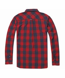 TJM REG CHK SHIRT L/S 12 RED