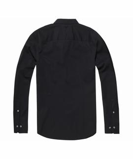 TJM ORIGINAL STRETCH SHIRT SLIM FIT TOMMY BLACK