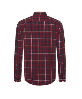 GINGHAM WITH A TWIST SHIRT REGULAR FIT RHUBARB
