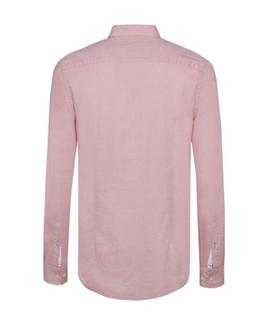 SLIM LUXURY DOBBY SHIRT SLIM FIT HOT CORAL