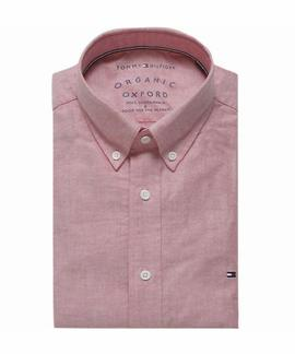 ORGANIC OXFORD SHIRT REGULAR FIT HAUTE RED