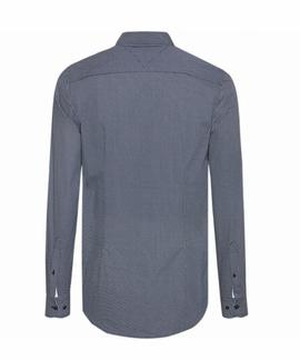 ESSENTIAL MICRO DOT SHIRT SLIM FIT MEDIEVAL BLUE