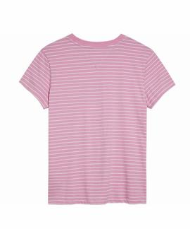 TJW STRIPED CHEST GRAPHIC TEE LILAC CHIFON / WHITE