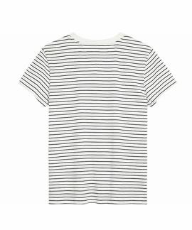TJW STRIPED CHEST GRAPHIC TEE  WHITE / BLACK IRIS