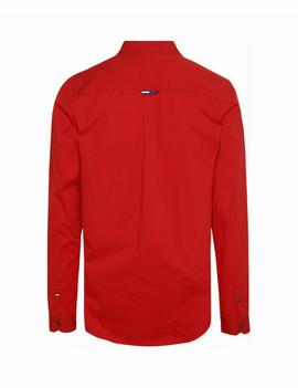 TJM SOLID TWILL SHIRT REGULAR FIT FLAME SCARLET