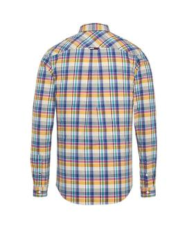 TJM ESSENTIAL BIG CHECK SHIRT REGULAR FIT YELLOW
