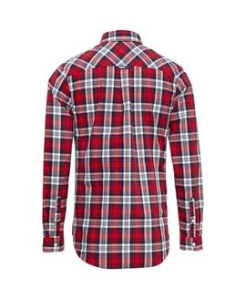 TJM ESSENTIAL MULTI CHECK SHIRT REGULAR FIT FLAME