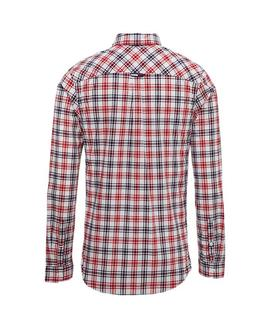 TJM ESSENTIAL MULTI CHECK SHIRT REGULAR FIT WHITE