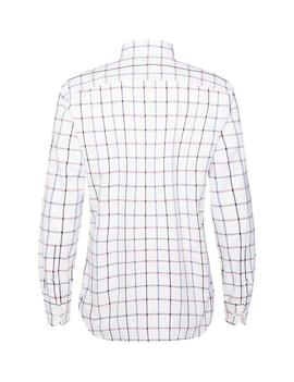 MULTI WINDOWPANE SHIRT REGULAR FIT HAUTE RED