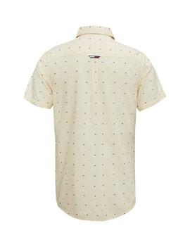 TJM SHORT SLEEVE DOBBY SHIRT REGULAR RDIANT YELLOW