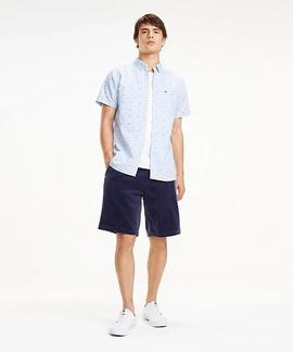 TJM SHORT SLEEVE DOBBY SHIRT REGULAR FIT LIMOGES