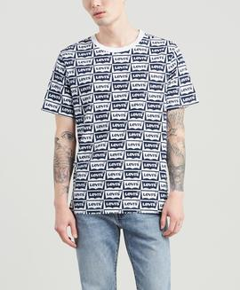 SS OVERSIZED FIT GRAPHIC TEE HM DRESS BLUE