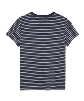 TJW STRIPED CHEST GRAPHIC TEE BLACK IRIS / WHITE